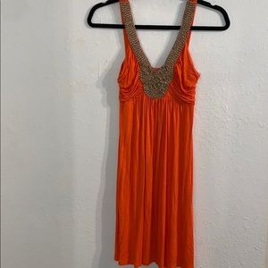 Soprano - Orange Midi Dress - Size Small